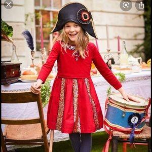 [Mini Boden] Red Sequin Skater Dress - Size 4-5Y